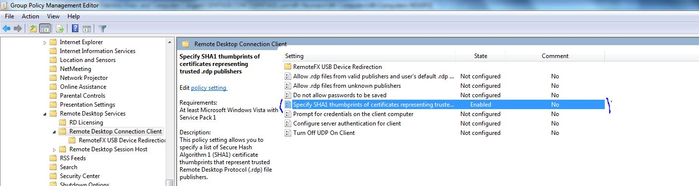 how to change rdp encryption level in windows server 2012