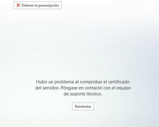 Error certificado