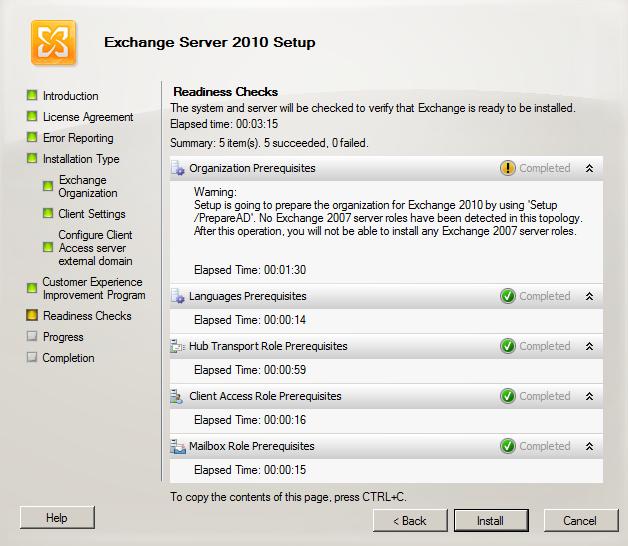 Exchange Pre-Deployment Analyzer - Exchange 2010 Compatibility Check