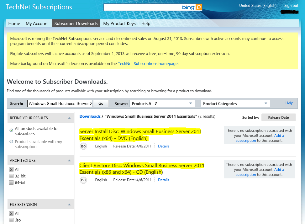 Free download screen capture from my essential business server s.