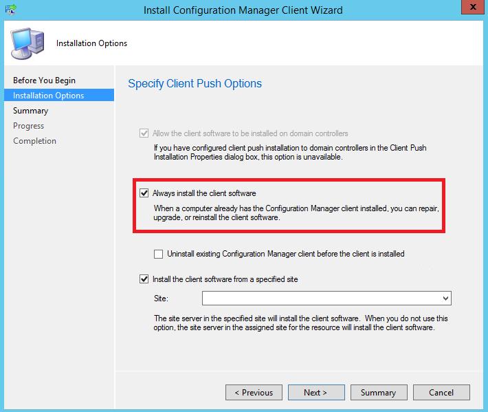 sccm 2012 client push installation error 120 & 1350