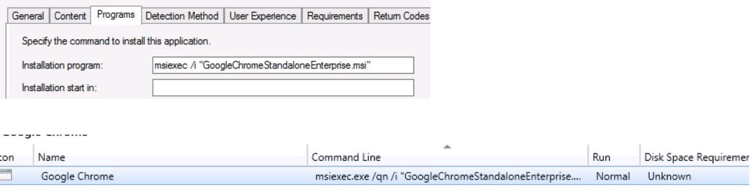 Installing GoogleChromeStandaloneEnterprise msi\msi as