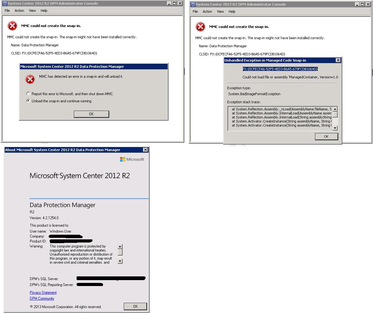 Not Solve] HELP! DPM console for desktop using remote desktop service