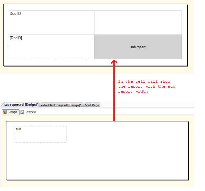 Subreport causing an extra blank space in PDF export of SSRS