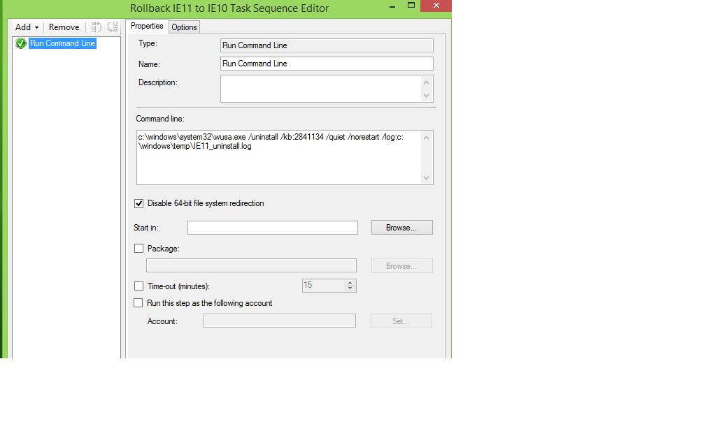 Uninstall IE 11 via SCCM 2012