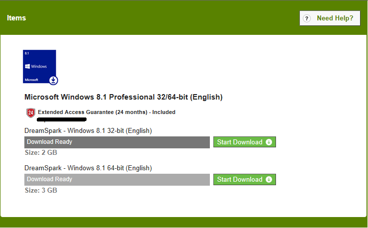 Windows 8. 1 pro 64 bit from dreamspark.
