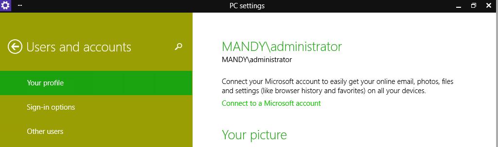 how to create a windows domain account