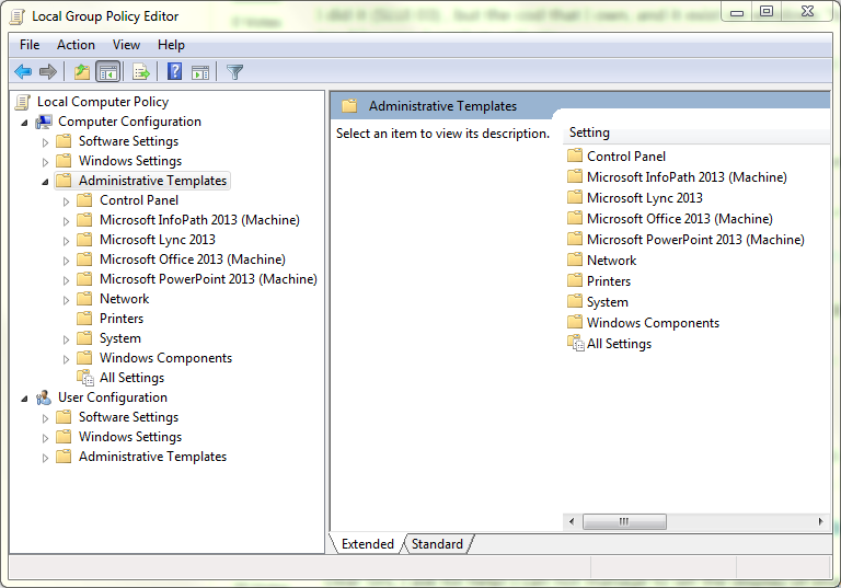 can t find administrative templates
