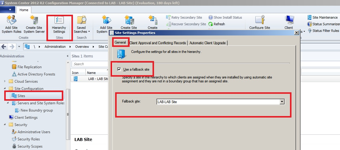 SCCM 2012 Error :Failed to get assigned site from AD  Error