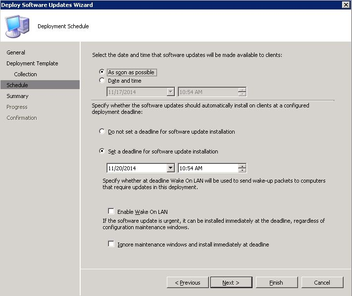 sccm 2007 windows updates ing but not installing