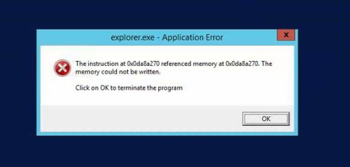 Windows 81 Explorerexe Application Error During Shutdown Process