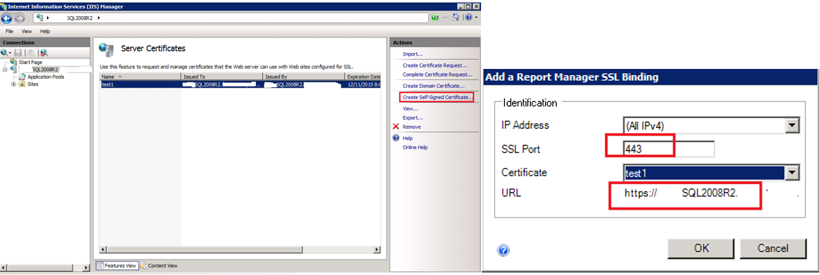 Create And Install Ssl Certificate In The Report Server