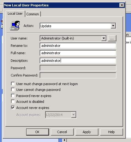 Change administrator password windows 10 gpo