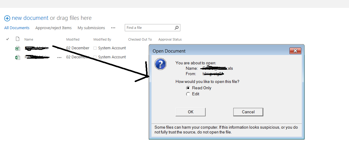 SharePoint document library will display  xls in a different