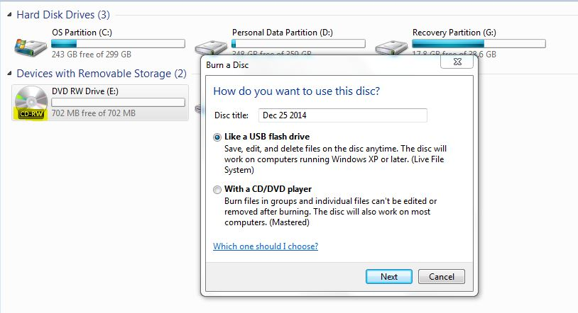 i am facing how do you want to use this disc whenever i read open any lightscribe discs having data