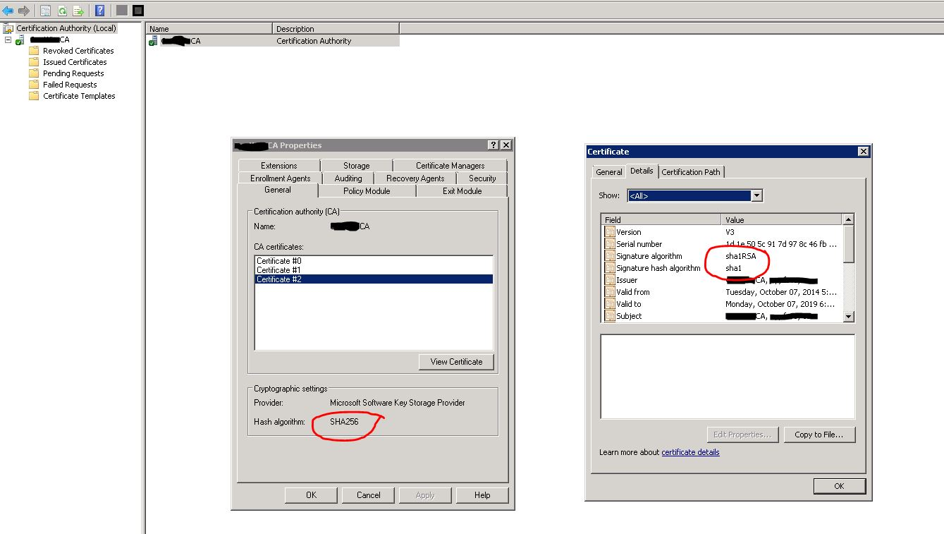 Security forum any pointers to how we can reissue ca certificate with sha256 algorithm 1betcityfo Image collections