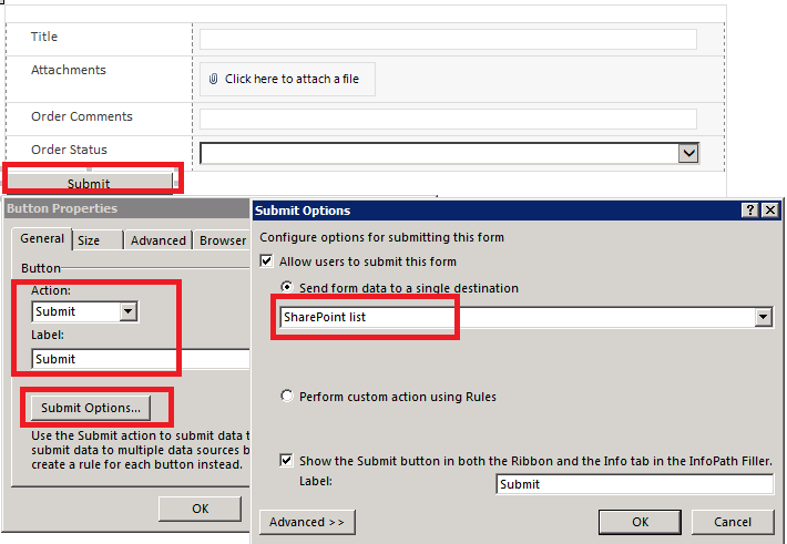 how to add infopath form to sharepoint