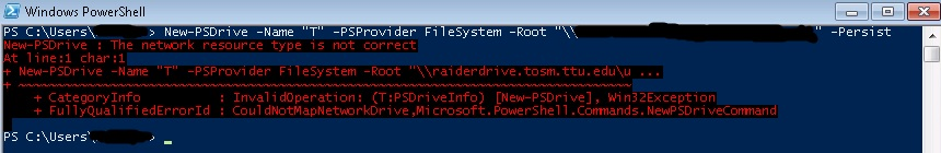 Mapping Network Shares Using PowerShell
