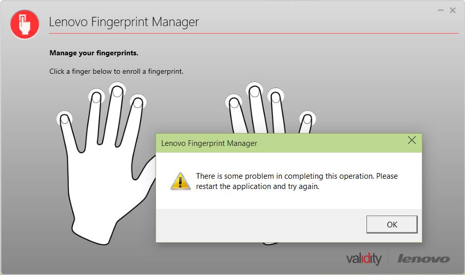 Driver for HP ENVY 15-ae105tx Validity Fingerprint Sensor