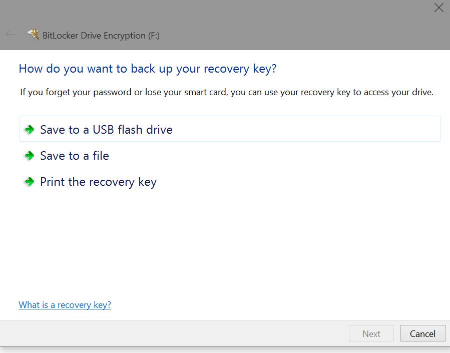 Unlocking Bitlocker on external hard drive
