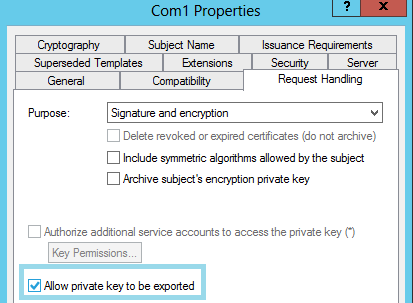 Cant manage private key permissions if the certificate was issued by an internal ca please modify the certificate template as below yelopaper Choice Image