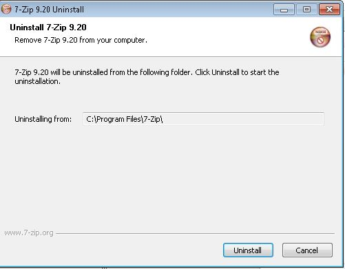 7zip Removal Not Working