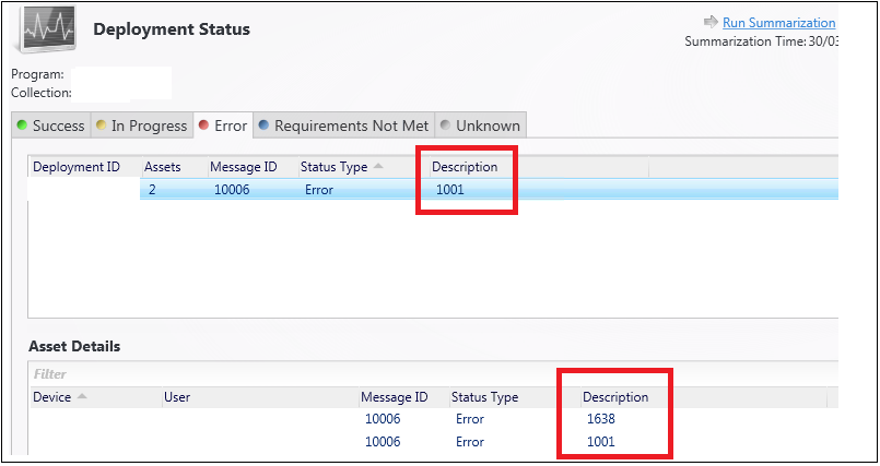 Batch File Failing With Status Message ID 10006