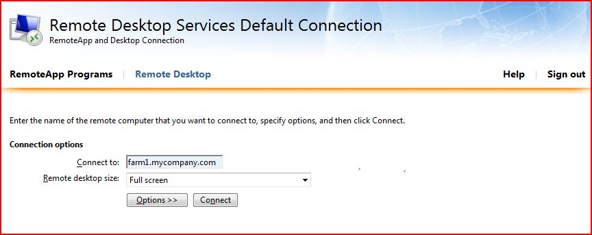 Need To Open Port 3289 On Remote Desktop Of Rdweb