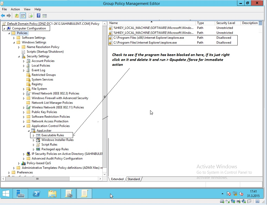 Event ID 866: This program is blocked by group policy
