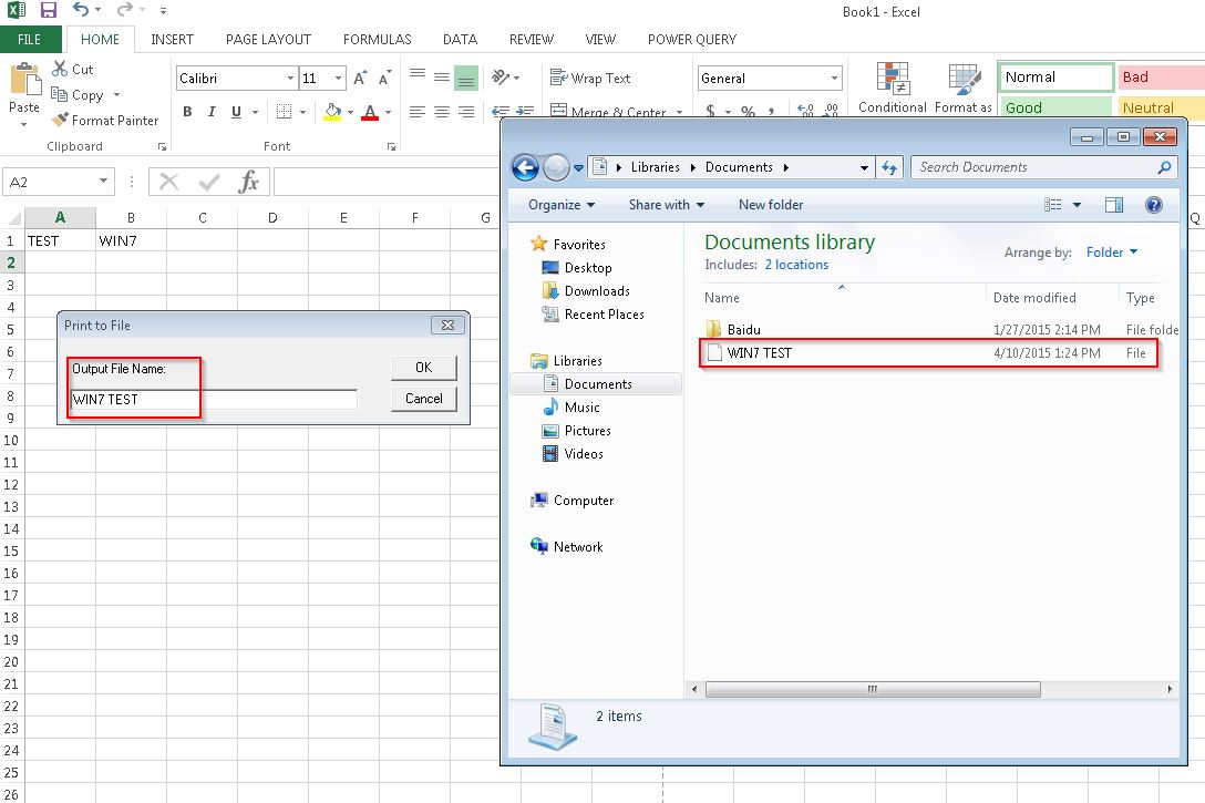 microsoft excel for windows 7 pro