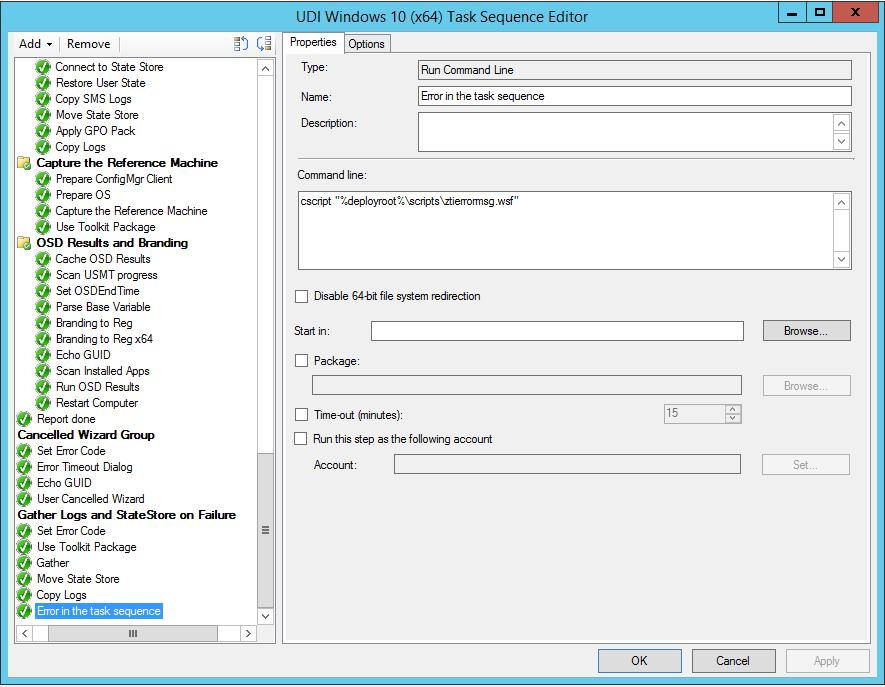 Deploy UDI Windows 10 with SCCM 2012 R2 and MDT 2013 Update 1