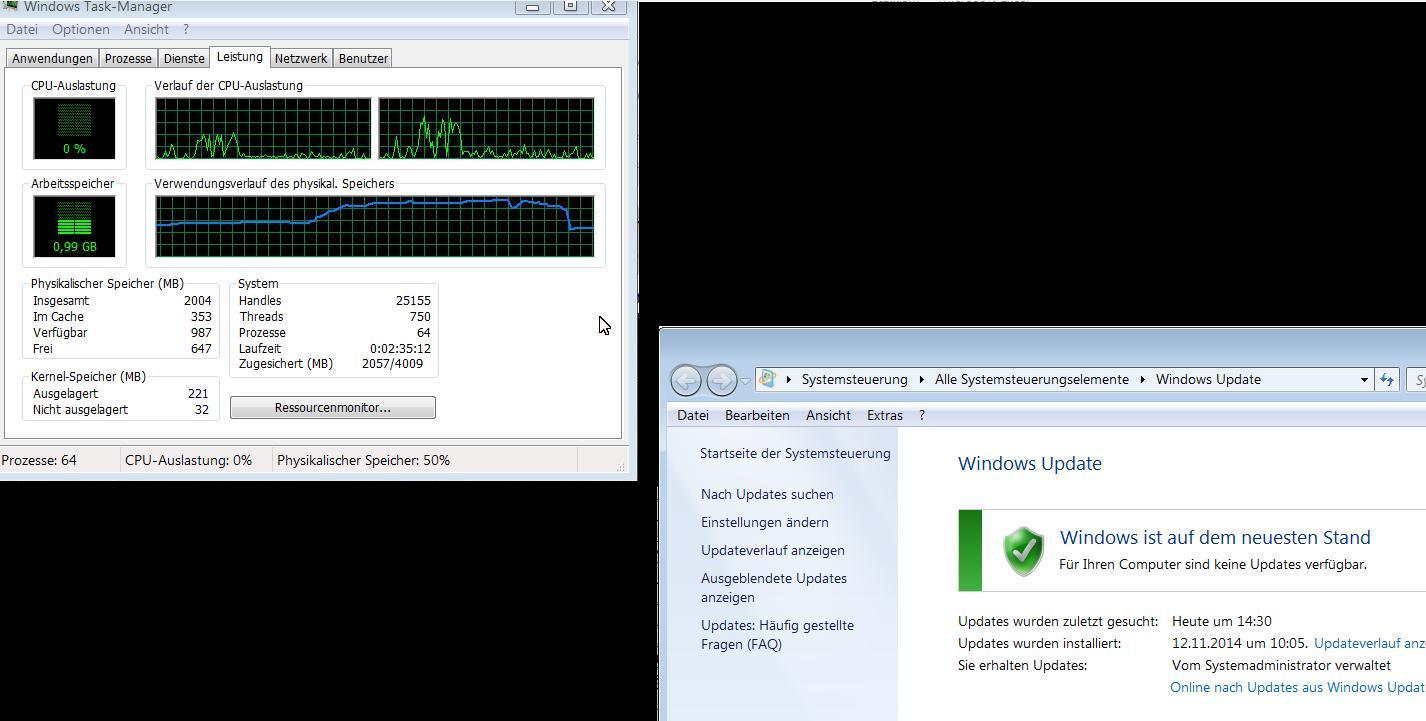 Speicherauslastung bei Windowsupdate und Geräten mit bis zu 3 GB RAM