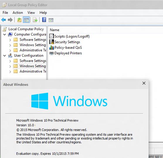 windows 10 pro no gpedit