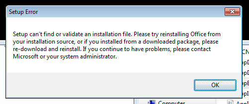 Office 2013 Uninstall via Software Centre Fails