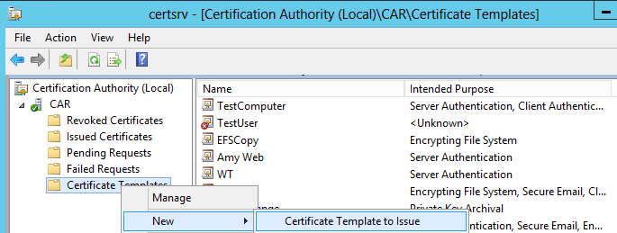 Regarding issuing of certificates thru sub ca in addition please assign read and enroll permissions on the certificate template security tab to those accounts which need to enroll certificates from the yelopaper Images