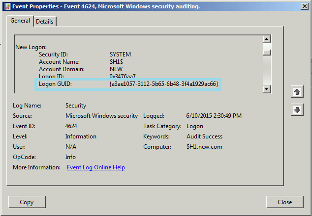 Event 4625 Audit Failure NULL SID failed network logons