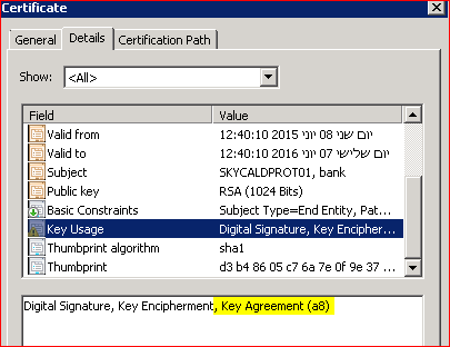 Csr key usage is overriden by the ca template for the key usage template dialog i tried all combination by never got the key agreement in the final cert yelopaper Gallery