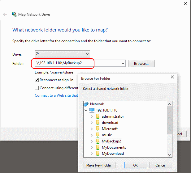 NAS drive will not connect