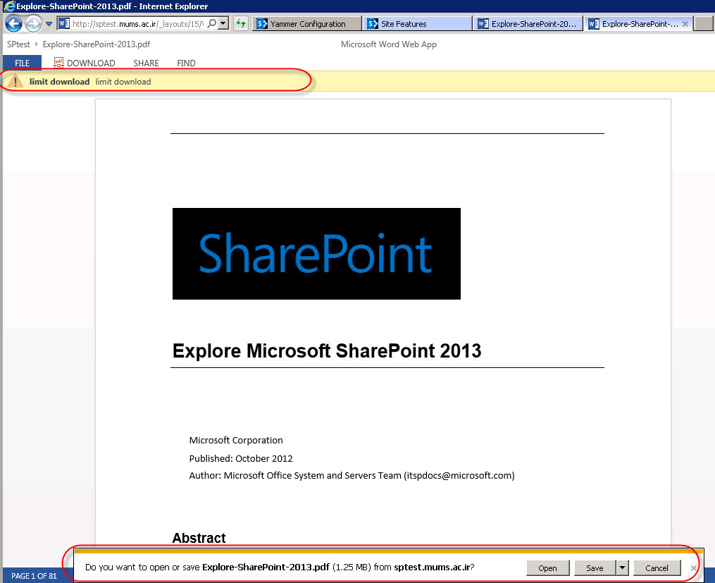 Limit users for download documents doesn39t work in for Document library name sharepoint