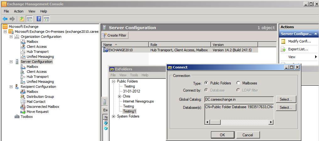 Exfolders Exchange 2010 Sp2