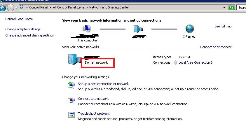 Unidentified Network in Windows