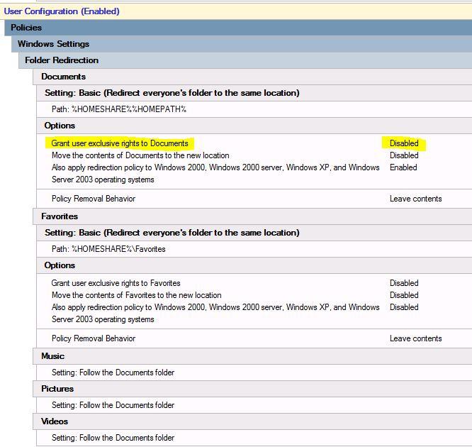 offline files, multiple users