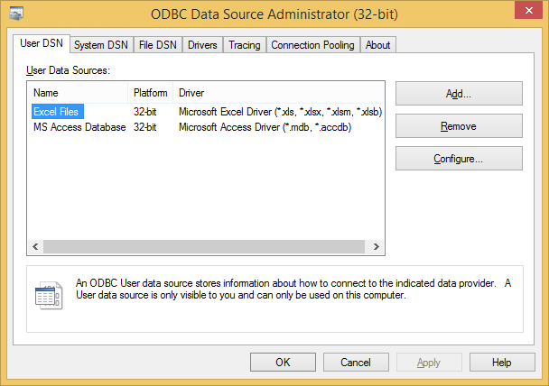 How to install .xlsx driver for ODBC
