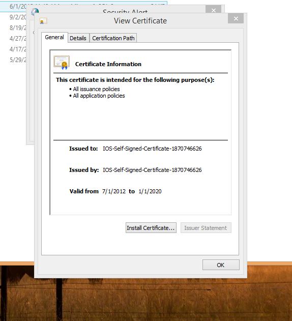 Exchange 2013 - outlook Certificate Warning (IOS-Self-Signed ...