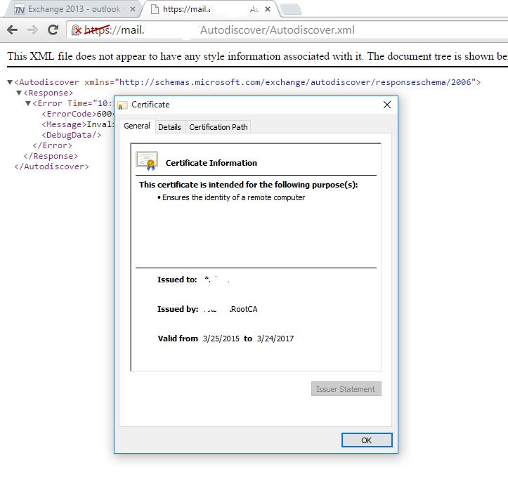 Exchange 2013 Outlook Certificate Warning Ios Self Signed