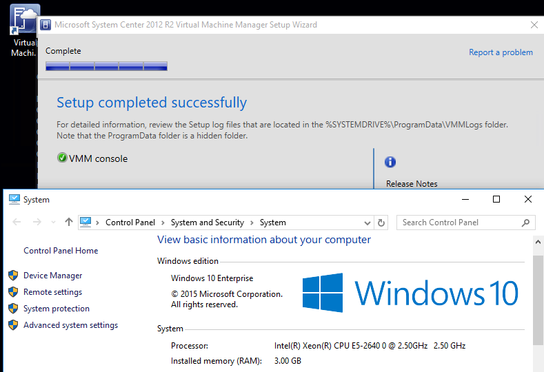 Virtual Machine Manager Console does not install on Windows 10