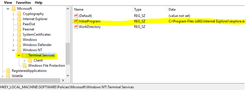 Program Tab missing from Windows 10 Remote Desktop Connection and ...