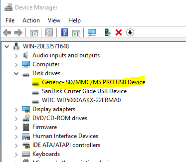 DOWNLOAD DRIVERS: JMCR SD MMC SCSI DISK DEVICE
