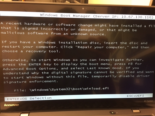 winload efi , can't boot pxe and other questions