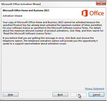 microsoft office 2013 license expired